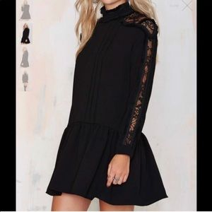 Endless rose black dress with lace